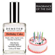 Fragrance of the Day for October 15, 2013 is Birthday Cake in celebration of National Cake Decoration Day. Bakery and cake decoration are popular hobbies, and Cake Decorating Day is all about going wild. Go wild with Demeter's Birthday Cake for 50% off with code 10649284.