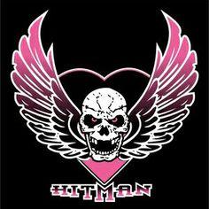 """Bret """"The Hitman"""" Hart Logo (possible tattoo) Wrestling Tattoos, Hart Wallpaper, Wwe Logo, Foundation Logo, Hitman Hart, Undertaker Wwe, Wwe Tna, Wrestling Superstars, Skull Tattoos"""