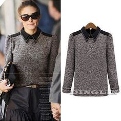 Autumn Winter Women Celeb Long Sleeve Cotton Knit Casual Top Blouse Shirt Jumper #Unbranded #Blouse #Casual