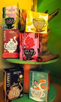variedad de tés e infusiones Clipper