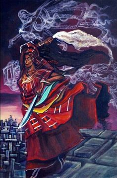 Oya Orisha of the whirlwind, guardian of the graveyard, Mother of nine, She who go to war by Stephen Hamilton  Beautiful!