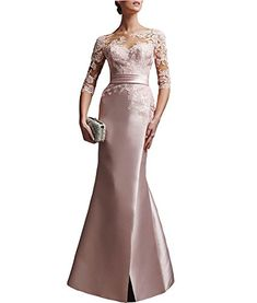 Alinafeng Dress Women's V Back Long Sleeves Mermaid Lace Evening Dress - http://bigboutique.tk/product/alinafeng-dress-womens-v-back-long-sleeves-mermaid-lace-evening-dress/