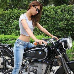 Bmw r51 sexy girl