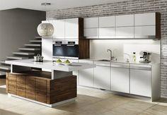 Contemporary Kitchen Galley Style Glam with Ergonomic Benefits Modern Kitchen Design, Modern House Design, Galley Style Kitchen, Hygge, Interior Design, Furniture, Home Decor, Team 7, Google Search