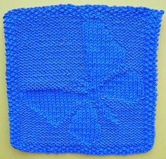 Butterfly Dish Or Face Cloth Knitting Pattern