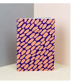 Dash Notebook in Purple/Coral @wrapmagazine  £8.00  #print #pattern #stationery