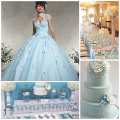 Dusty Blue | Quinceanera Ideas | Party Planning |