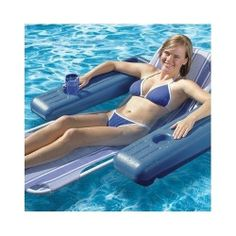 Floating Lounge Chair Pool Relax Tan Water Swim Lake Raft Beach Outdoor Vacation  sc 1 st  Pinterest & 95 best Pool lounge images on Pinterest | Pool lounge Lifebuoy and ...