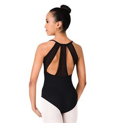 Adult Mesh Back Camisole Leotard - Style No M2063LM