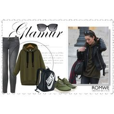 How To Wear Hooded Zipper Loose Green Sweatshirt Outfit Idea 2017 - Fashion Trends Ready To Wear For Plus Size, Curvy Women Over 20, 30, 40, 50