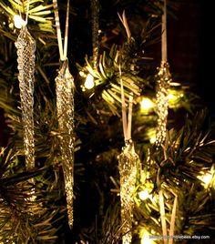Glass Icicle Christmas Decoration Borosilicate Glass Christmas Tree Ornament Christmas in July 5 Red Hanging Christmas Tree Decoration