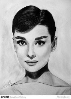 Audrey Hepburn'ün Unutulmaz Güzelliğini Gösteren 15 İllüstrasyon - onedio.com