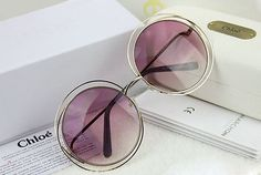 New Authentic Chloe CARLINA CE114S Gold Transparent Pink Sunglasses 62MM