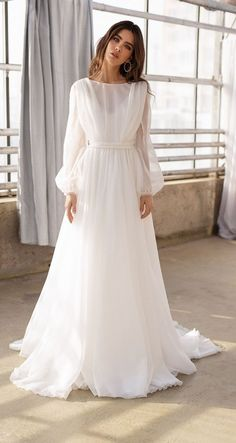 Organza Bridal, Wedding Dress Organza, Wedding Dress Sleeves, Long Sleeve Wedding, Bridal Gowns, Lace Dress, Long Sleeve Bridal Dresses, Long Sleeve Gown, Organza Dress