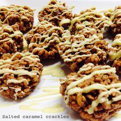 Caramel and Coconut Rice Krispys Caramel Buttercream, Buttercream Filling, Chocolate Butter, Salted Butter, Rice Krispie Treats, Rice Krispies, Yummy Treats, Sweet Treats, Recipe Boards