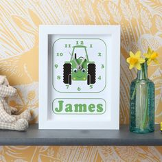 Image of Personalised Transport Clocks Free Delivery, Clocks, Transportation, Frame, Art, Picture Frame, Art Background, Watches, Kunst