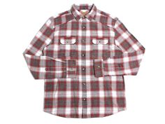 Negative Space LS Flannel Button Up