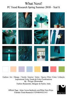 #Teal #tealblue #SS18 #fashion #colortrends #fashiontrends #fashionforecast #fashionblogger #WhatNextPCTrendResearch #Pantone #fashionnews #fashionindustry #runway #fashionista #couture #tuxedo #fashionweek2018 #spring2018 #interiordecor #homefurnishing #textiles #design #knits #womenswear #menswear #dapper #lifestyle #accessories #springsummer2018 #nyfw #lfw #mfw #pfw #WGSN #PriyaChander #FashionResearch #Burberry #couture #knits #springsummer