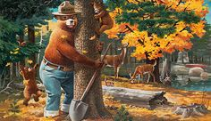 "Smokey Bear - Rudy Wendelin - 1994 - ""Trees Are Wonderful Friends"""