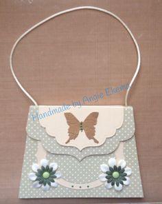 Handbag card made in monthly workshop