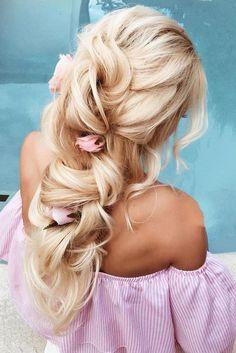 30 Gorgeous Blooming Wedding Hair Bouquets ❤ See more: http://www.weddingforward.com/blooming-wedding-hair-bouquets/ #weddings #hairstyles