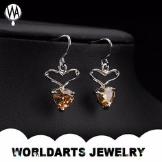 Latest Model Aolly Rellow Champagne Drop Wedding Woman Fashion Earrings, View earrings, Worldarts Jewelry Product Details from Dongguan Worldarts Jewellery Manufactory on Alibaba.com