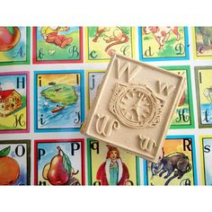 Vintage Letter Stamps with Pictures   From Just Smashing Darling on Etsy
