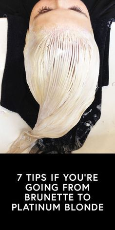 A Team Zoe staffer takes the plunge. Going Platinum Blonde, Platinum Blonde Balayage, Red To Blonde, From Brunette To Blonde, Bleached Tips, Bleached Hair, Good Hair Day, Great Hair, Brunette To Blonde Before And After