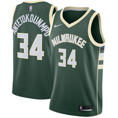2b25dc4718e Giannis Antetokounmpo Milwaukee Bucks Nike Swingman Jersey Green - Icon  Edition. Best Nba ...