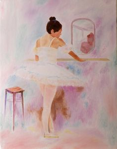 "Oil painting titled ""Ballerina"", done on a 20"" x 24"" x 3/4 canvas. Not available."