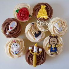 Five Things About Disney Wedding Cupcakes Beauty And The Beast You Have To Experience It Yourself Themed Cupcakes, Cute Cupcakes, Wedding Cupcakes, Birthday Cupcakes, Beauty And The Beast Cupcakes, Beauty And The Beast Theme, Disney Beauty And The Beast, Comida Disney, Disney Food