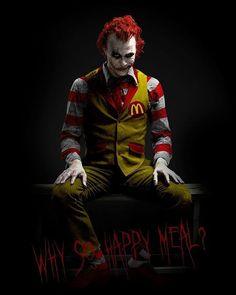 Joker as Ronald McDonald . best costume idea I've seen in a while Joker Heath, Le Joker Batman, Batman Joker Wallpaper, Joker Wallpapers, Joker Art, Joker And Harley, Joker Cartoon, Wallpaper Wallpapers, Mobile Wallpaper