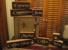 Coffee wood shelf sitters