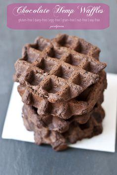 chocolate hemp grain-free waffle recipe