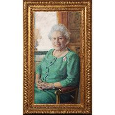 Queen Elizabeth II by Rolf Harris.  Seriously?? This is  a terrible portrait of the Queen.