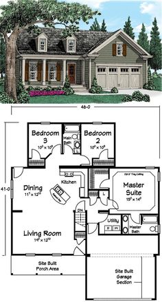Country style house plans 1400 square foot home 1 story for House arrangement ideas