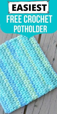 This simple and easy potholder crochet pattern is perfect for beginners. Make this double layered pot holder for your kitchen following this free tutorial. #crochetpotholders, #crochetpotholderpattern, #crochethotpad, #crochetpotholdereasy, #crochet, #freecrochetpattern Easy Crochet Stitches, Crochet Potholders, Granny Square Crochet Pattern, Free Crochet Potholder Patterns, Free Pattern, Crochet Hot Pads, Crochet Kitchen, Unique Crochet, Pot Holders