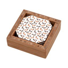 Wonder Forest Darling Dachshunds Coaster Set | DENY Designs Home Accessories
