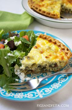 Greek Quiche | Figs & Feta