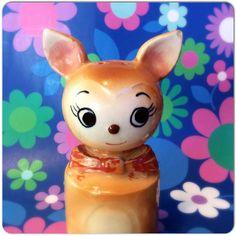 Cute Kitsch 1950's Bambi Deer Salt or Pepper- Retro Ornament - Fawn Collectible Souvenir Pot-Shaker Cruet