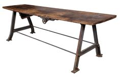 raw vintage work table - ABC Carpet & Home