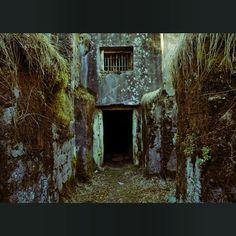 Entrance to abandoned military facility on Naissaar island in Estonia. Photo by Dmitri Korobtsov