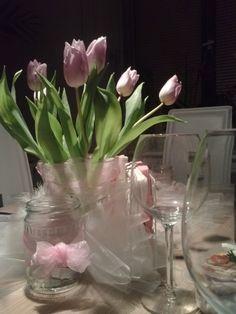 Vánoce tulipány# Christmas table and tulips