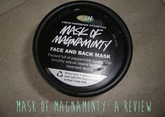 A review on Lush's Mask of Magnaminty on my new blog at sophfemme.blogspot.com