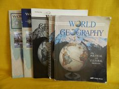 ABeka World Geography Book, Teacher Key & Map Studies Set, Homeschool or School #TextbookBundleKit