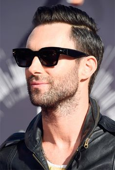 Adam Levine of Maroon 5 photographed on the red carpet at the 2014 MTV Video Music Awards in Inglewood, California. | MTV Photo Gallery