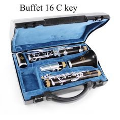 144.50$  Buy here - http://alijrb.worldwells.pw/go.php?t=923316896 - Buffet Clarinet 16 C Key Crampon Students Clarinet C flute Playing Clarinet Musical Instruments Silver Plated Keys Clarinete 144.50$