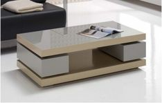 Modern lounge table with lift lid and drawer Centre Table Living Room, Table Decor Living Room, Living Room Sofa Design, Centre Table Design, Sofa Table Design, Table Furniture, Furniture Design, Wooden Coffee Table Designs, Pallet Furniture
