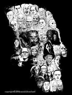 Horror Skull by YannickBouchard.deviantart.com on @deviantART