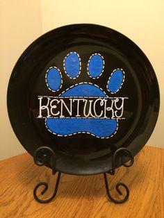 Kentucky Wildcats (large plate)- $25